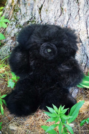 ALPACA BLACK FUR TEDDY BEAR