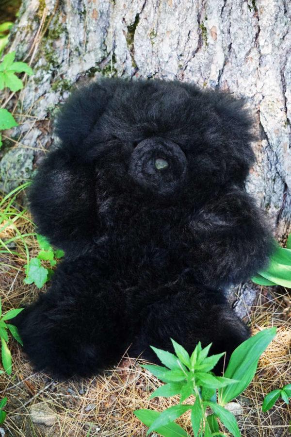ALPACA BLACK FUR TEDDY BEAR
