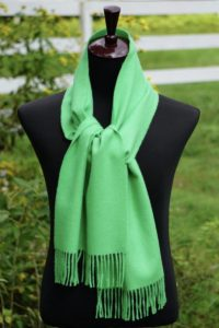 Pure Baby Alpaca Plush Scarf in Spring Green