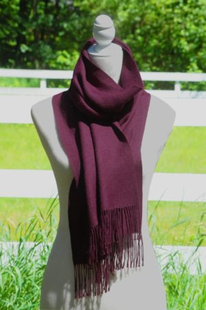Pure Baby Alpaca Hand Woven Scarf