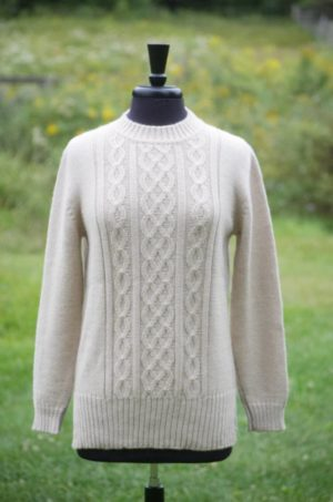 Pure Baby Alpaca Contemporary Cable Pullover