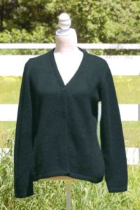 Pure Suri Alpaca Cardigan In Dark Teal