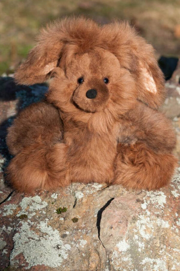 Soft And Cuddly Alpaca Bunny In Camel Colored Fur