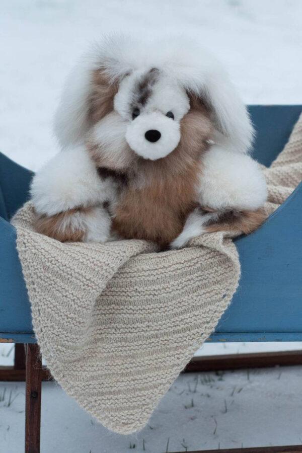 Soft And Cuddly Alpaca Bunny In Multi-Colored Fur