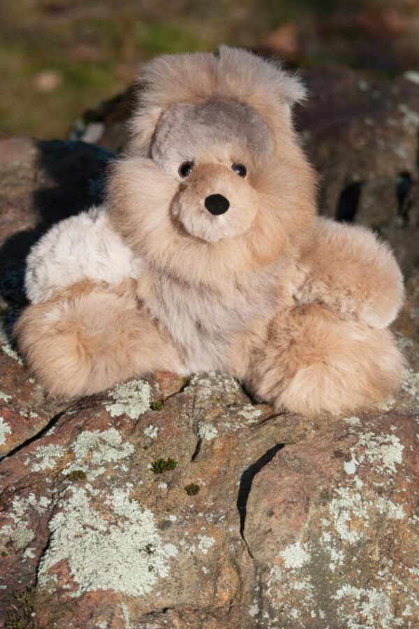 Soft And Cuddly Alpaca Bunny In Rose Grey Colored Fur