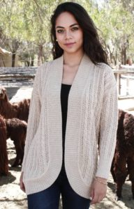 Pure Baby Alpaca Cable and Lace Cardigan