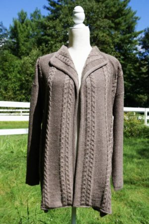 Pure Baby Alpaca Cabled Cardigan
