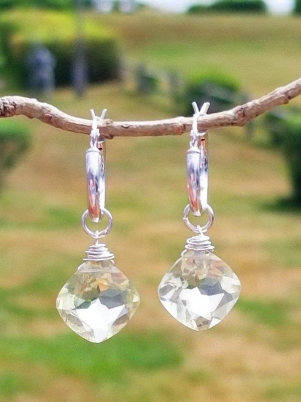 Lemon Quartz Interchangeable Gemstone Earrings