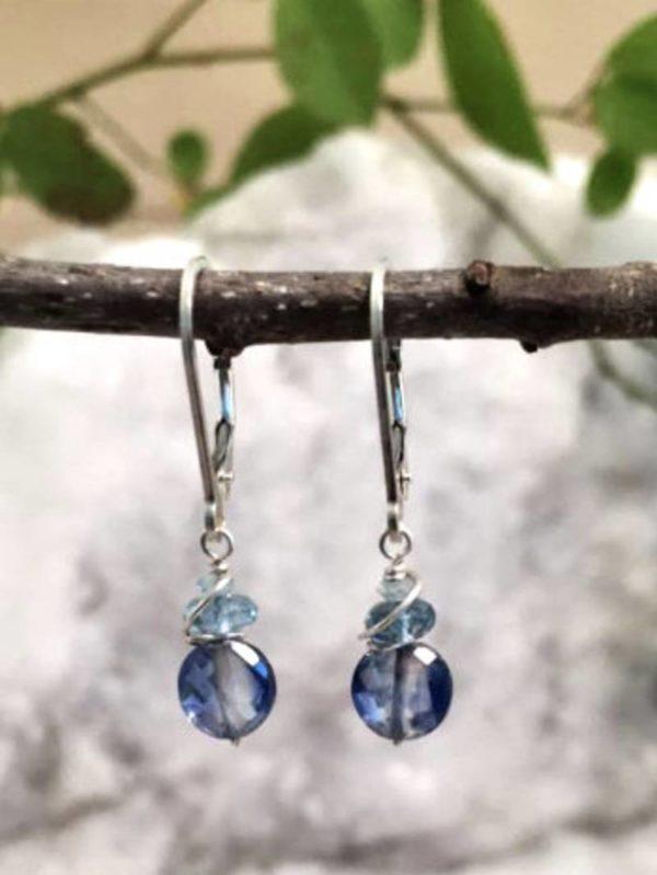 Kyanite, Topaz and Apatite Gemstone Earrings