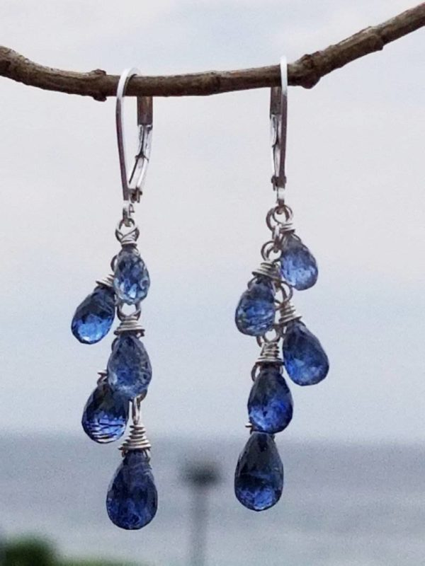 Kyanite and Sterling Gemstone Earrings