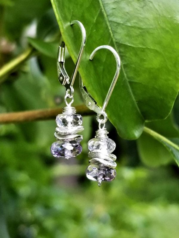 Lavender Amethyst and Sterling Silver Earrings