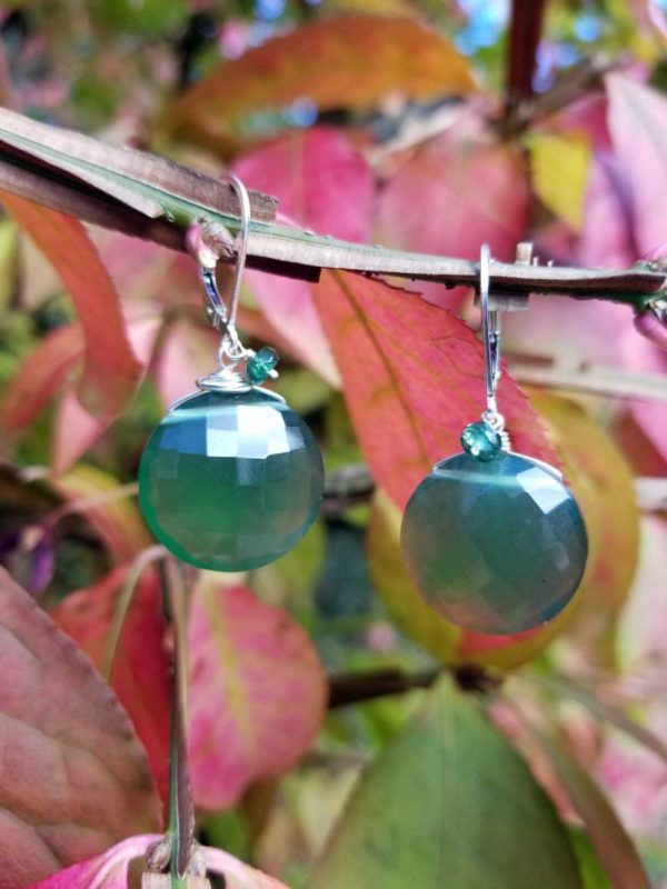 Large Serpentine Gemstone Earrings