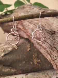 Sterling Silver, Lacrosse Earrings