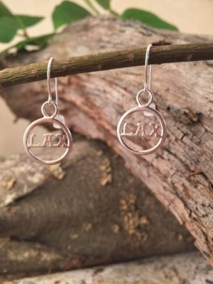Sterling Silver, Lacrosse Earrings