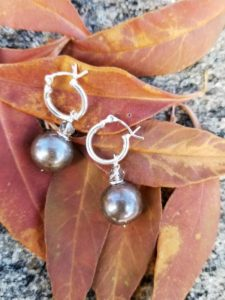 South Sea Silver Pearl Earrings