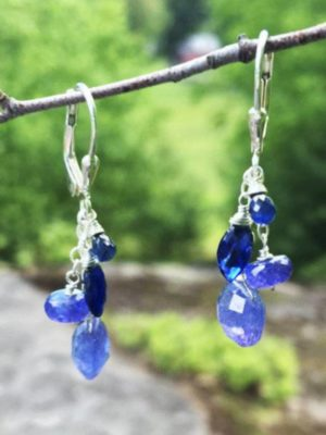 Tanzanite, Sapphire and Kyanite  Earrings