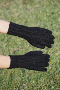 Pure Baby Alpaca Hand Knit Gloves