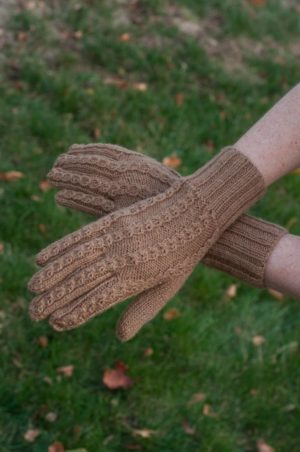 Pure Baby Alpaca All Natural Hand Knit Gloves