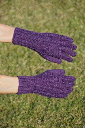 Pure Baby Alpaca Hand Knit Gloves