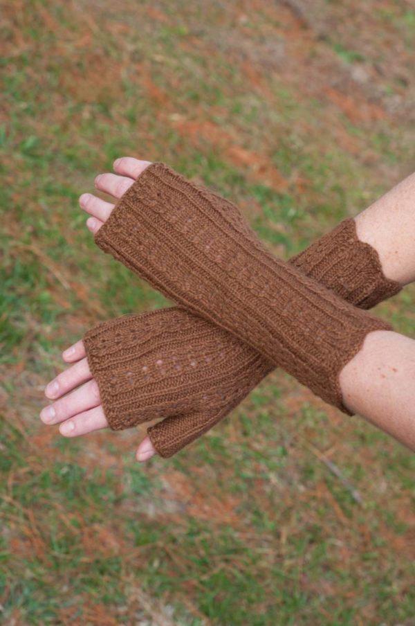 Hand Knit Baby Alpaca Hand Warmers