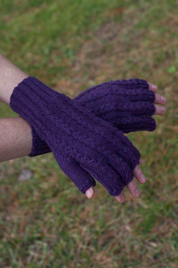 Pure Baby Alpaca Hand Knit Handwarmers