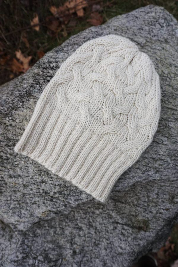 Pure Baby Alpaca Chunky Cabled Hat