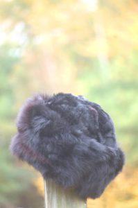 Pure Baby Alpaca Black Fur Hat
