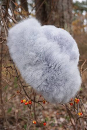 Pure Baby Alpaca Grey Fur Hat