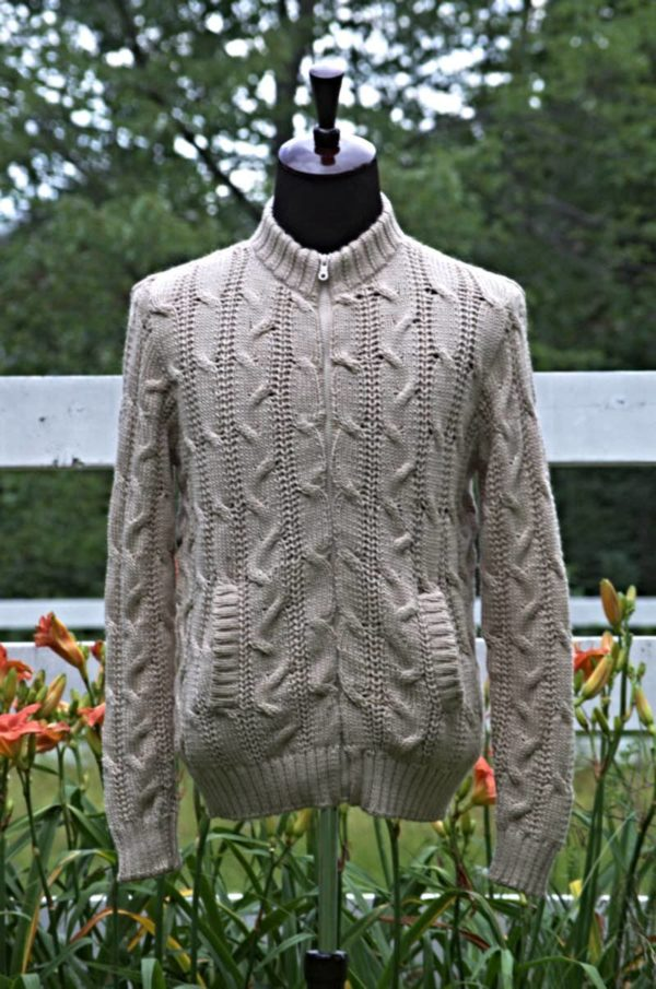 Pure Baby Alpaca Cabled Jacket