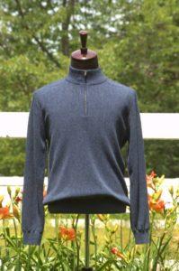 Men's Pure Baby Alpaca Half Zip Sweater