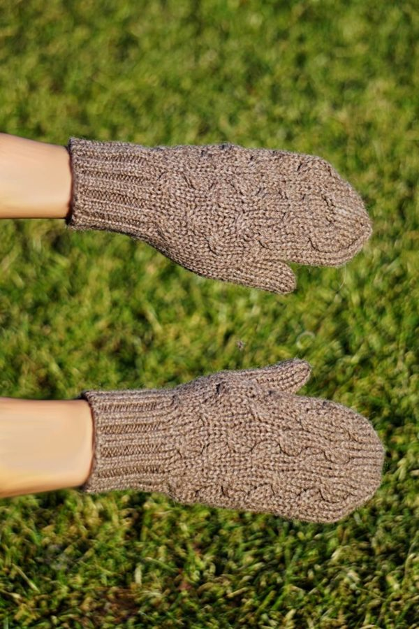 Pure Baby Alpaca Chunky Cabled Mittens
