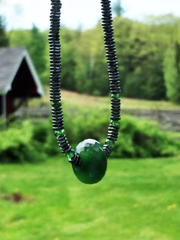 Jade and Hematite Necklace
