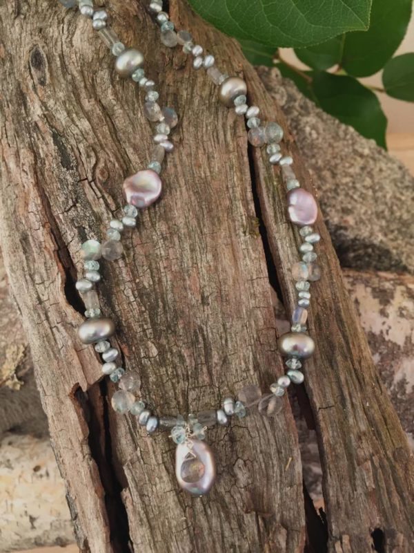 Keishi Pearl and Labradorite Necklace
