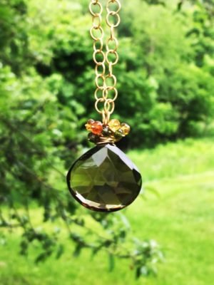 Smoky Quartz and Tourmaline Necklace