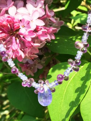 Tanzanite and Amethyst Necklace