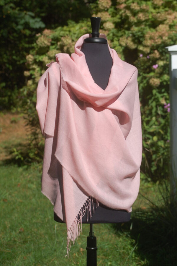 Baby Alpaca And Silk Luxury Pashmina In Pink