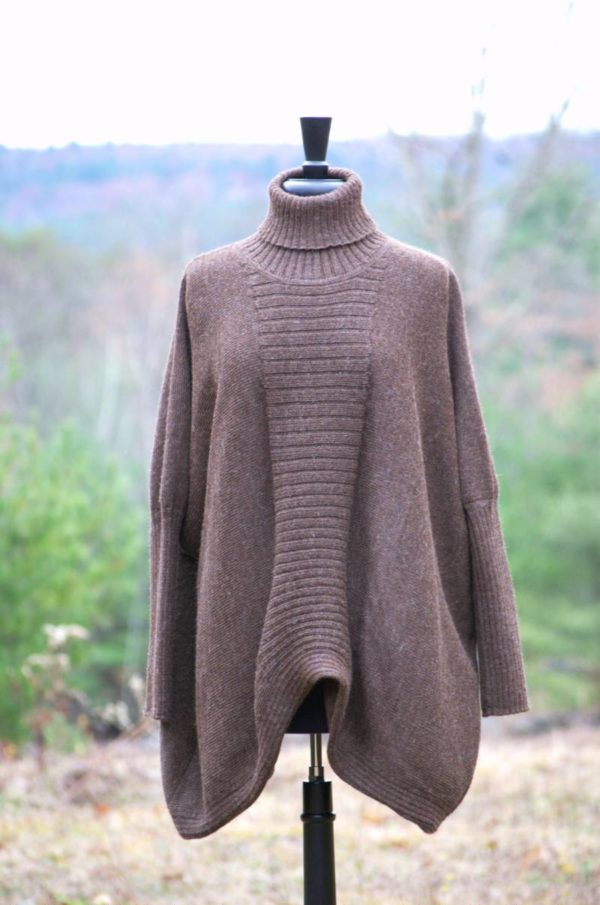 Pure Baby Alpaca Rose Gray Poncho