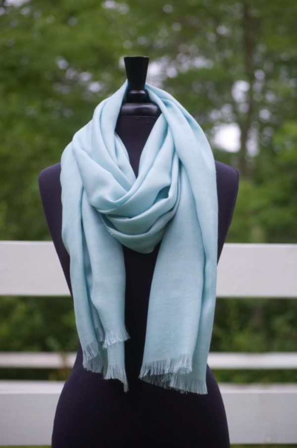 Baby Alpaca and Silk Woven Scarf