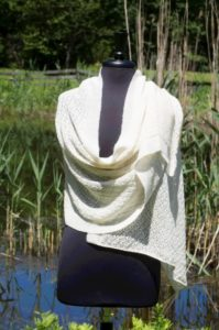 Pure Baby Alpaca Lace Shawl in Natural Colors