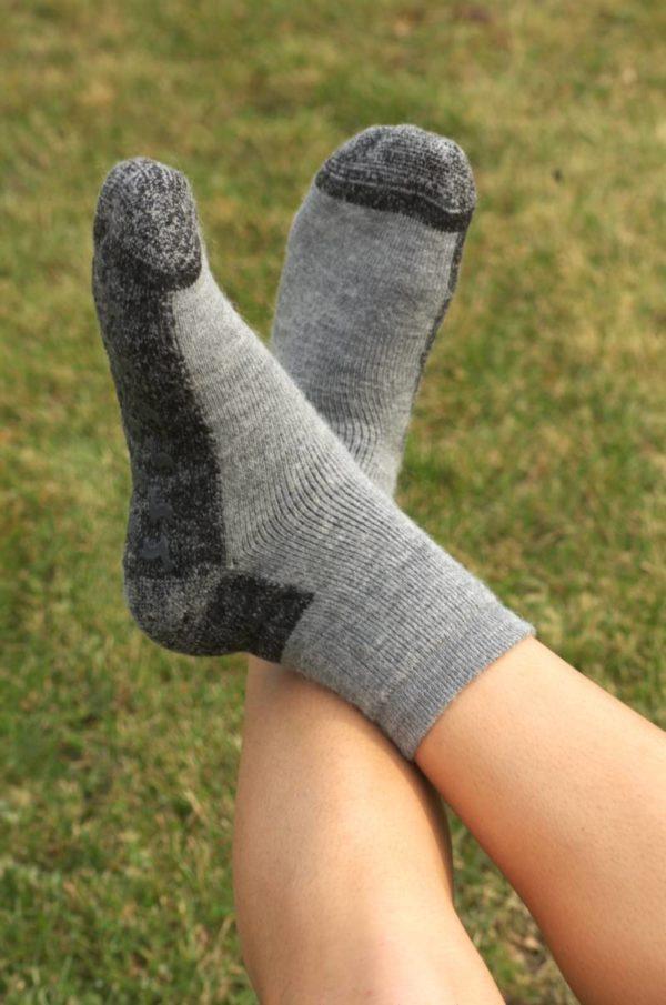 Baby Alpaca Pinnacle Slipper Socks