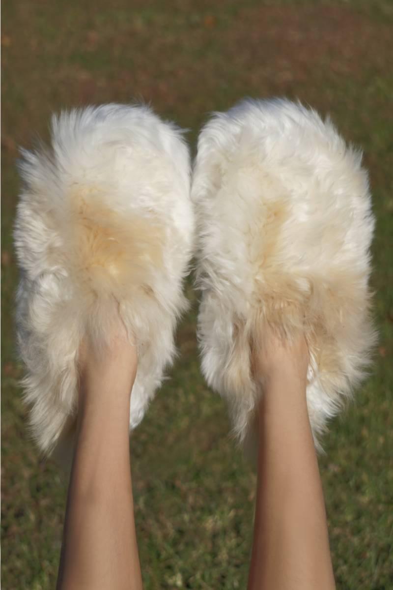 Luxury Pure Suri Alpaca Slippers