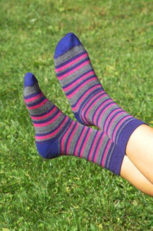 Baby Alpaca Striped Socks