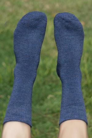 73% Pure Alpaca Casual Classic Socks In Denim Blue
