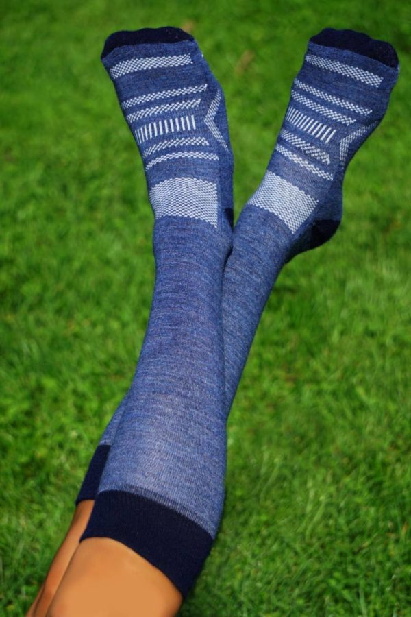 Over The Calf Sport Socks have the highest alpaca content with 68% alpaca.