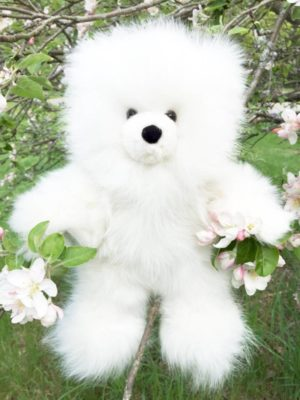 Large 12 Inch Pure Alpaca Teddy Bear