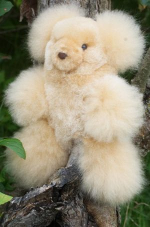 10 Inch Pure Baby Alpaca Teddy Bear