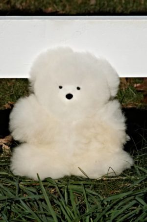 Large 12 Inch Pure Baby Alpaca Teddy Bear