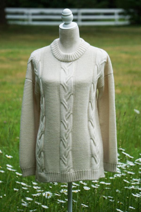 Women's Alpaca Cable Sweater