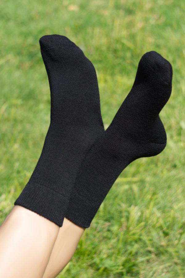 73% Pure Casual Classic Alpaca Socks In Black