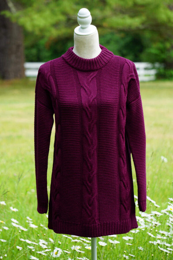 Women's Pure Baby Alpaca Cabled Sweater